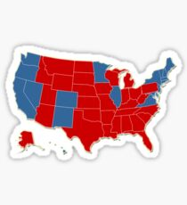 Donald Trump 45th US President - USA Map Election 2016 Sticker