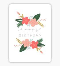 Fiona alles Gute zum Geburtstag / Grußkarte Sticker