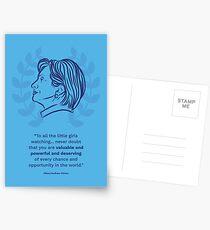 Hillary Clinton inspirierendes Zitat Postkarten