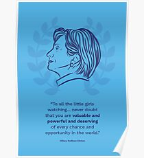 Hillary Clinton Inspiring Quote Poster