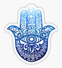 Blue Hamsa | Hand of Fatima | Globetrotter Sticker