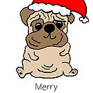 Merry Pugmas by avillustrations