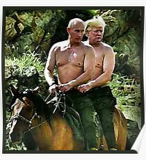 Best Friends Trump & Putin Poster