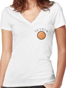 Kuroko No Basuke/Basket - Seirin Bench Uniform Women's Fitted V-Neck T-Shirt