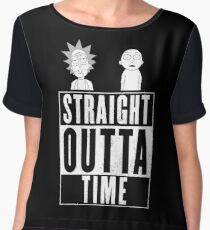 Straight outta Time - Rick & Morty Chiffon Top