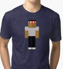 Frank - Minecraft Tri-blend T-Shirt