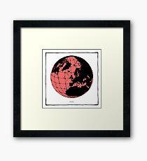 World Web (pink) Framed Print