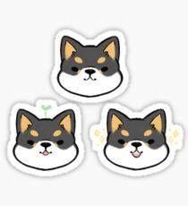 Shiba Inus (Schwarz) Sticker