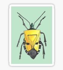 Yellow insect drawing Sticker