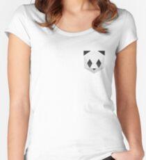 Panda Wabe Tailliertes Rundhals-Shirt