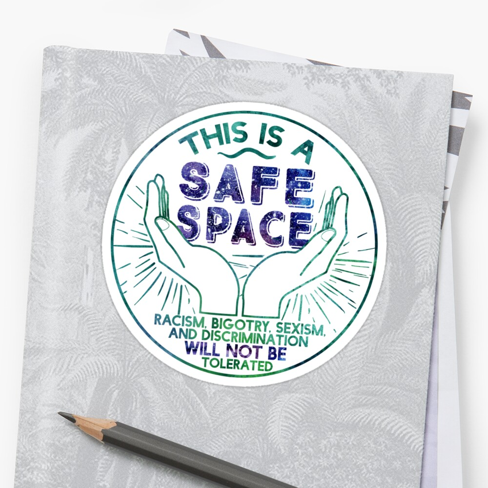 Quot Safe Space Quot Sticker By Eviebookish Redbubble