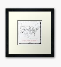 United States of America (blue) Framed Print