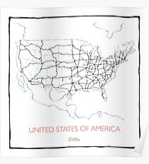 United States of America (blue) Poster