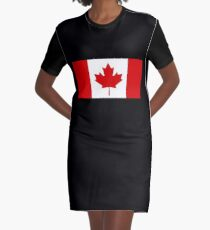 Canada Flag Graphic T-Shirt Dress