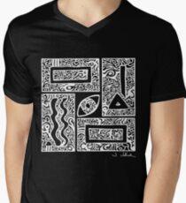 Eye, Square, Triangle (white design) Men's V-Neck T-Shirt
