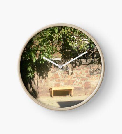 Bench in Santa Teresa, Rio de Janeiro Clock