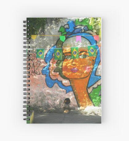 Street art & flags, Rio de Janeiro Spiral Notebook