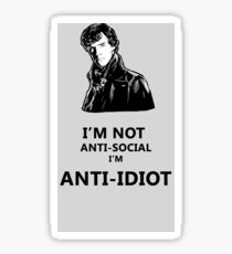 Sherlock's Famous Quote Sticker