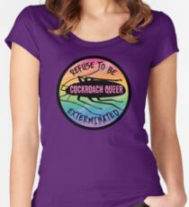 Cockroach queer Fitted Scoop T-Shirt