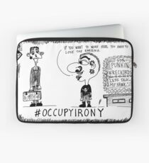 Occupy Irony editorial cartoon Laptop Sleeve