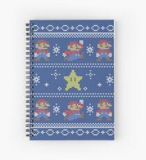 Mario Christmas Sweater Spiral Notebook