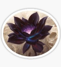 Lotus noir Sticker