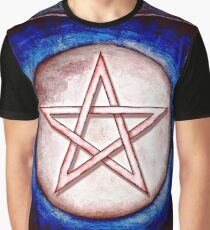 Mondpentagramm - Artwork I Roter Glanz Graphic T-Shirt