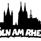 Köln am Rhein mit Dom und Groß St.Martin von theshirtshops