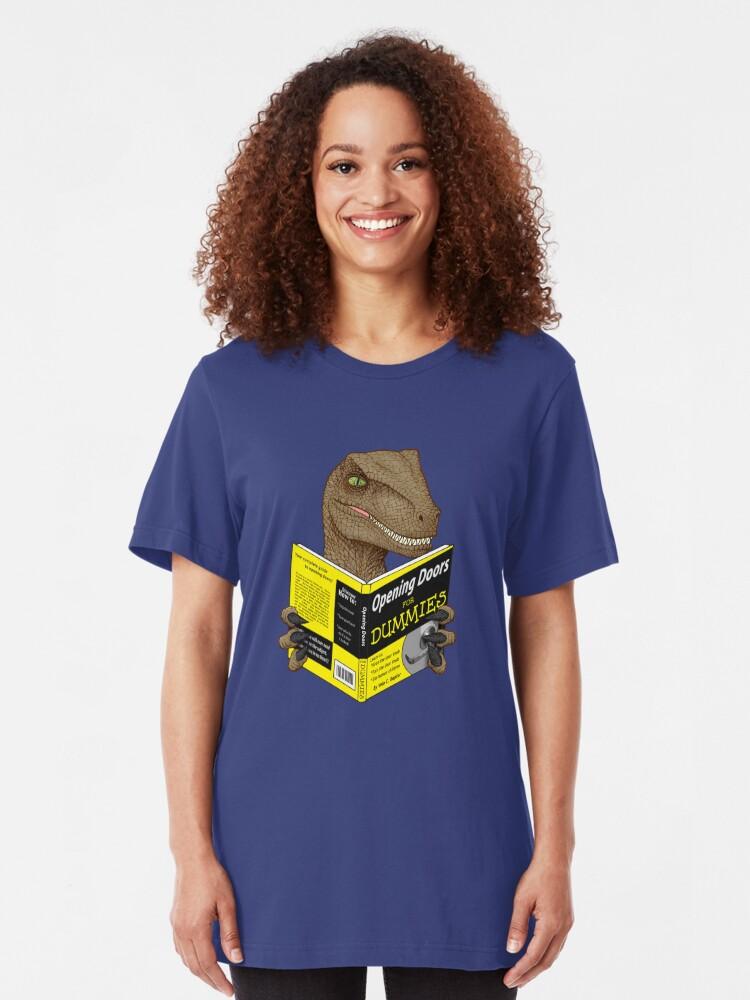 Alternative Ansicht von Türen für Dummies öffnen Slim Fit T-Shirt