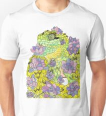 Hairy Bush Viper with Succulents Unisex T-Shirt