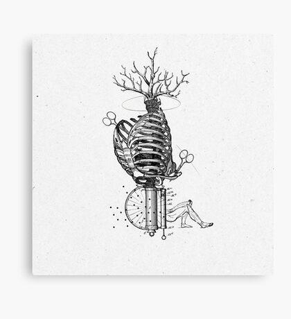 UN NIDO PARA EL DOLOR (a nest for pain) Canvas Print