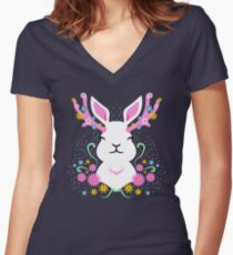 Jackalope Women's Fitted V-Neck T-Shirt
