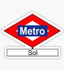 Placa de la estación de Metro de Sol Sticker