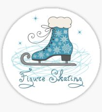 Figure skating pattern Sticker