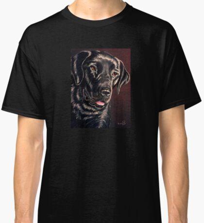 """Signature Grin"" Portrait Of A Black Lab Classic T-Shirt"