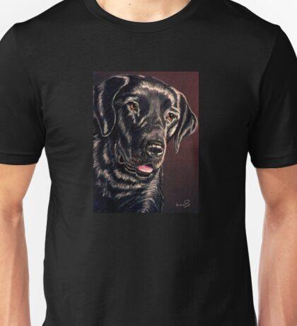 """""""Signature Grin"""" Portrait Of A Black Lab T-Shirt"""