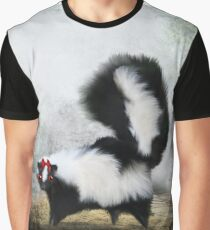 Ms. Skunk on her own Graphic T-Shirt