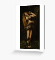 Lilith with a Snake Greeting Card