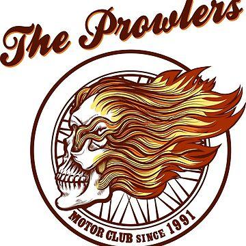 Skull in flames Biker club Emblem by devaleta