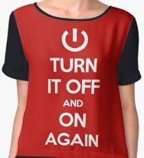 Keep Calm - Turn It Off and On Again Women's Chiffon Top