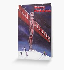 Angel of the North Christmas Greeting Card