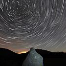 Star Trails over Blencathra in the English Lake District by Martin Lawrence