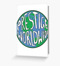 Prestige Worldwide logo - Step Brothers Movie Greeting Card