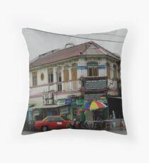 Old Store Penang Malaysia Throw Pillow