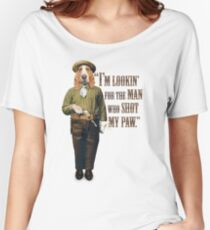 Cowboy Dog with a Gun Women's Relaxed Fit T-Shirt