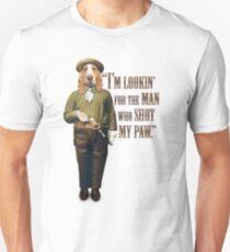 Cowboy Dog with a Gun Unisex T-Shirt