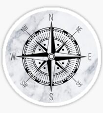 Marble Compass Sticker