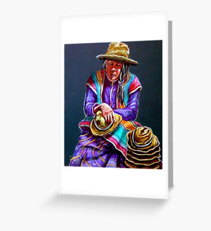 """Hats For Sale"" Greeting Card"