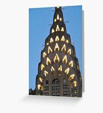 Chrysler Building Lights Greeting Card