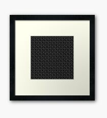 All The Cats Pattern Framed Print